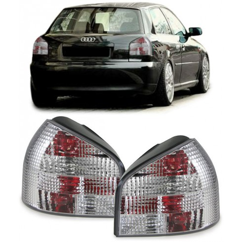 AUDI A3 8L '96-'03 SILVER/CLEAR TAIL LIGHTS