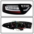 AUDI A5 07-09 LED LIGHTBAR TAIL LIGHTS - BLACK