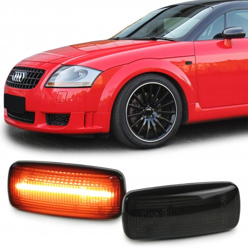 AUDI LED LIGHTBAR SIDEMARKERS -SMOKE