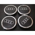 AUDI WHEEL CENTER CAPS - CARBON