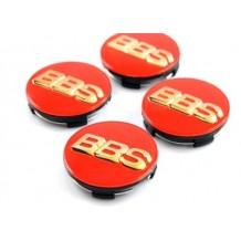 BBS WHEEL CENTER CAPS  - RED