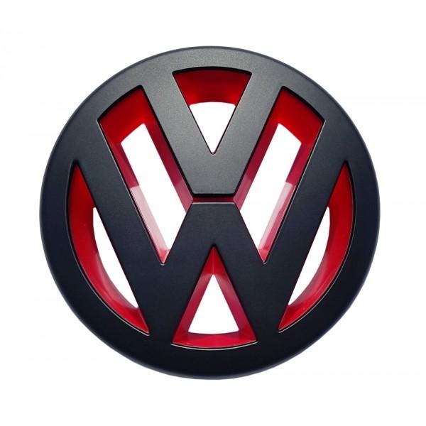 Vw Golf 5 Grill Emblem Red Black