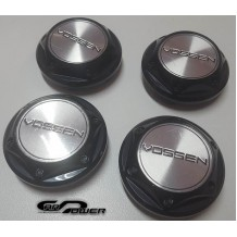 VOSSEN  WHEEL CENTER CAPS  - SILVER /BLACK