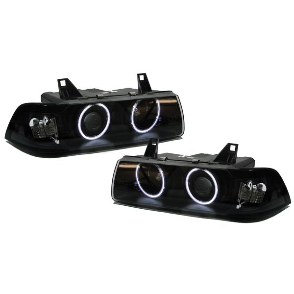 bmw e36 coupe cabrio ccfl angel eyes black. Black Bedroom Furniture Sets. Home Design Ideas