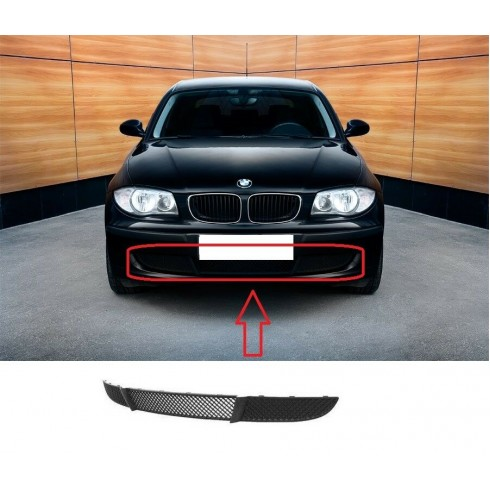 BMW 1 SERIES E87 2007-2011FRONT BUMPER LOWER GRILLE BLACK