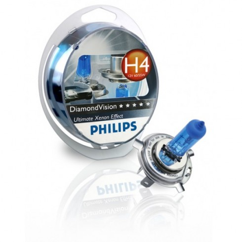 H4 12V/55W-65W PHILIPS DIAMOND VISION