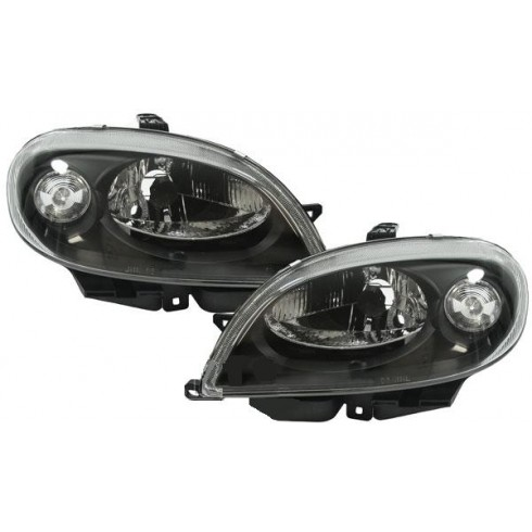 CITROEN SAXO 1999-ON OEM LOOK HEADLIGHTS - BLACK