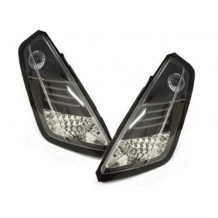 FIAT GRANDE PUNTO '05-'09 LED TAIL LIGHTS -  BLACK