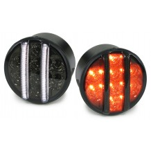 JEEP WRANGLER  JK '07-ON LED POSITION LIGHTS+TURN SIGNAL - BLACK/SMOKE