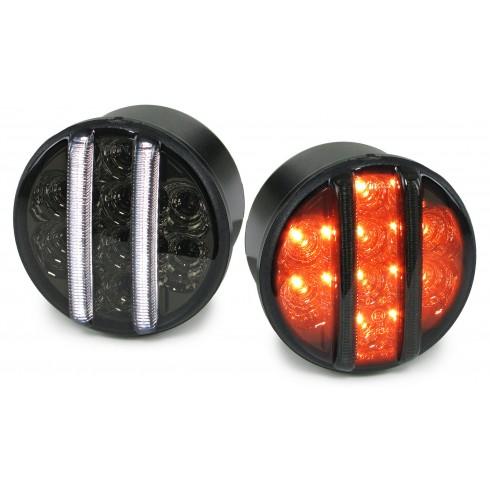 JEEP WRANGLER  JK '07-ON LED POSITION LIGHTS+TURN SIGNAL - BLACK/SMOKE