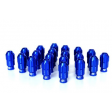 SIX LIGHTWEIGHT ALU 7075 LUG NUTS 12x1.50 BLUE ANTITHEFT