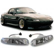 MAZDA MX-5 '90-'98 FRONT BUMBER LIGHTS - CHROME/CLEAR