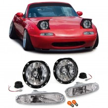 MAZDA MX-5 NA '90-'98 CLEAR HEADLIGHTS + CLEAR BUMPER LIGHTS