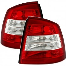 OPEL ASTRA G '97-'04 RED/WHITE TAIL LIGHTS