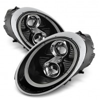 PORSCHE 911 '04-'08 TUBE LED PROJECTOR HEADLIGHTS - BLACK