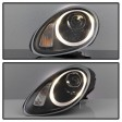 PORSCHE BOXSTER '04-'08 TUBE LED PROJECTOR HEADLIGHTS - BLACK