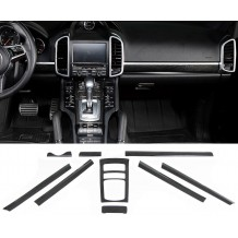 PORSCHE CAYENNE '11-'17 REAL CARBON INTERIOR TRIM SET