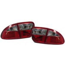 SEAT LEON '99-'04 RED/CLEAR LED TAIL LIGHTS