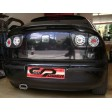 SEAT LEON '99-'04 CLEAR-BLACK  LED TAIL LIGHTS
