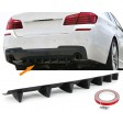 UNIVERSAL REAR DIFFUSER FOR REAR BUMPERS WITH 7 FINS