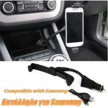 CAR PHONE HOLDER WITH USB & SMARTPHONE CHARGER