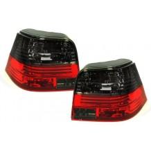 VW GOLF 4 '97-'03  TAIL LIGHTS - RED/SMOKE