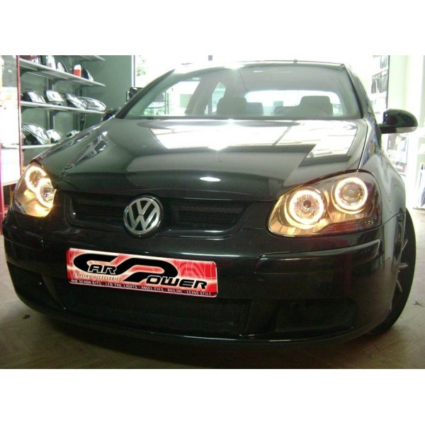 vw golf 5 39 03 39 08 angel eyes headlights black. Black Bedroom Furniture Sets. Home Design Ideas