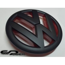 VW GOLF 7 FRONT GRILL EMBLEM - BLACK/RED MATT