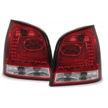VW POLO 9N3 '05-'09 LED TAIL LIGHTS - RED/CLEAR