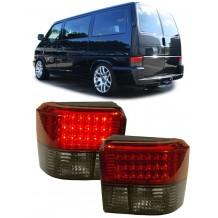 VW TRANSPORTER T4 '90-'03 RED/SMOKE LED TAIL LIGHTS