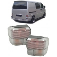 VW TRANSPORTER T4 '90-'03 SILVER/WHITE LED TAIL LIGHTS