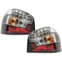 AUDI A3 8L '96-'03 CLEAR/BLACK  LED TAIL LIGHTS
