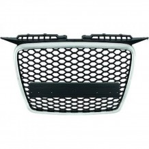AUDI A3 '05-'08 GLOSSY / CHROME BADGELESS GRILL HONEYCOMB