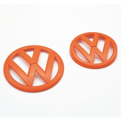 VW GOLF 7 FRONT GRILL EMBLEM - ORANGE