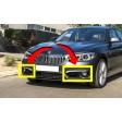 BMW SERIES 1 (F21/20) 3/5D 15-19  URBAN LINE FOG LIGHT BUMPER GRILLE - DRIVER SIDE