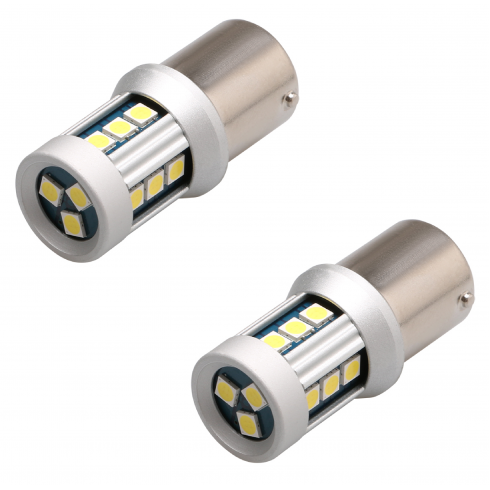 BA15D (P21/5W) LED BULBS CANBUS - WHITE
