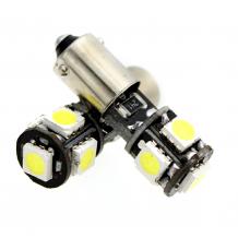 BAX9s LED (H6W)  BULB 5 SMD CANBUS 6000K - WHITE