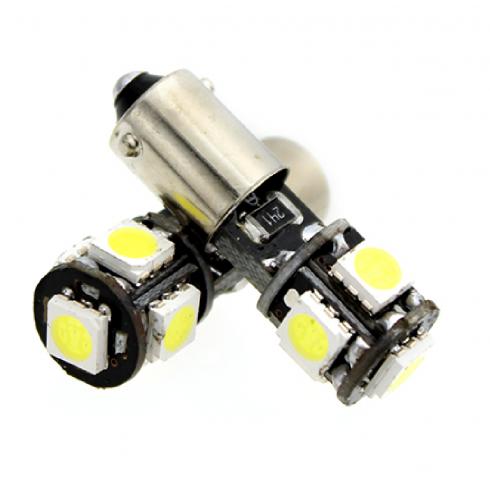 BA9S LED (T4W) BULB 5 SMD 6000K - WHITE