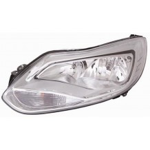 FORD FOCUS 11-14 CHROME HEADLIGHT - DRIVER SIDE