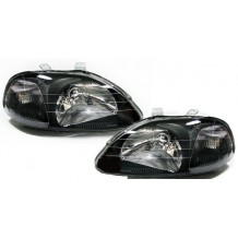 HONDA CIVIC '96-'98  JDM LOOK HEADLIGHTS - BLACK