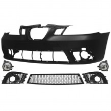 SEAT IBIZA 2006-08 FRONT BUMPER WITH CENTRAL FRONT GRILLE + FOG LIGHT + FOG LIGHT GRILLE