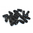 SIX LIGHTWEIGHT ALU 7075 LUG NUTS 12x1.25 BLACK ANTITHEFT