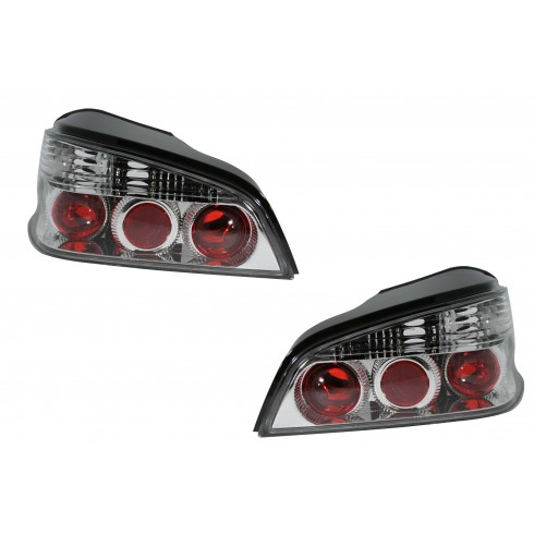 PEUGEOT 106 '96-'ON TAIL LIGHTS - CHROME