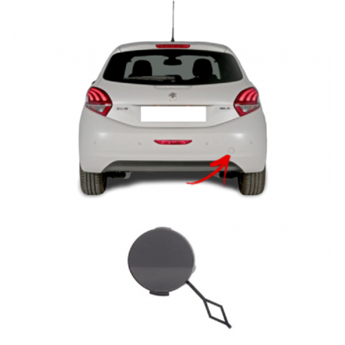 PEUGEOT 208 2012-19  REAR BUMPER TOW HOOK EYE COVER CAP FOR PAINTING
