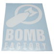 """BOMB FACTORY"" - STICKER - WHITE"