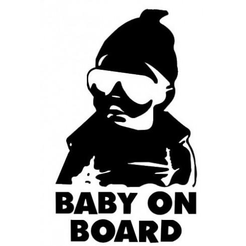 """BABY ON BOARD"" - STICKER - RED"