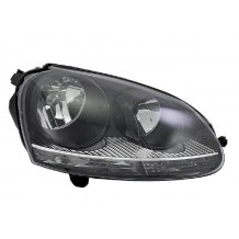VW GOLF 5 - JETTA 04-08 HEADLIGHT BLACK GTI - PASSENGER SIDE