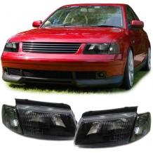 VW PASSAT 3B 1996-99 BLACK HEADLIGHT WITH FLASH