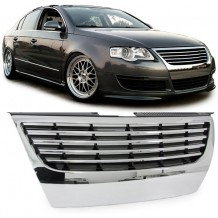 VW PASSAT 3C '05-'08  BADGELESS GRILL W/O PDC - CHROME