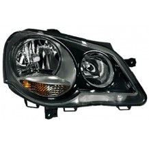 VW POLO 9N3 '05-'09 GTI HEADLIGHTS - BLACK - PASSENGER SIDE